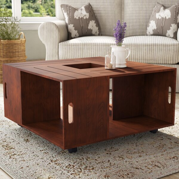 August Grove Wood Top Coffee Tables