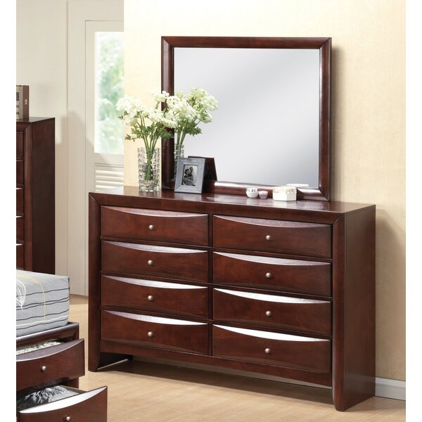Chew Stoke 8 Drawer Double Dresser With Mirror By Red Barrel Studio by Red Barrel Studio
