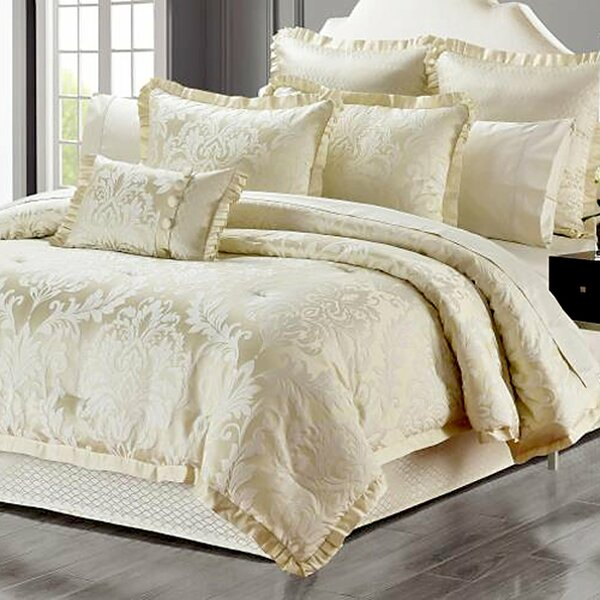 Cassell Luxurious Jacquard Reversible Comforter Set (Set of 6)
