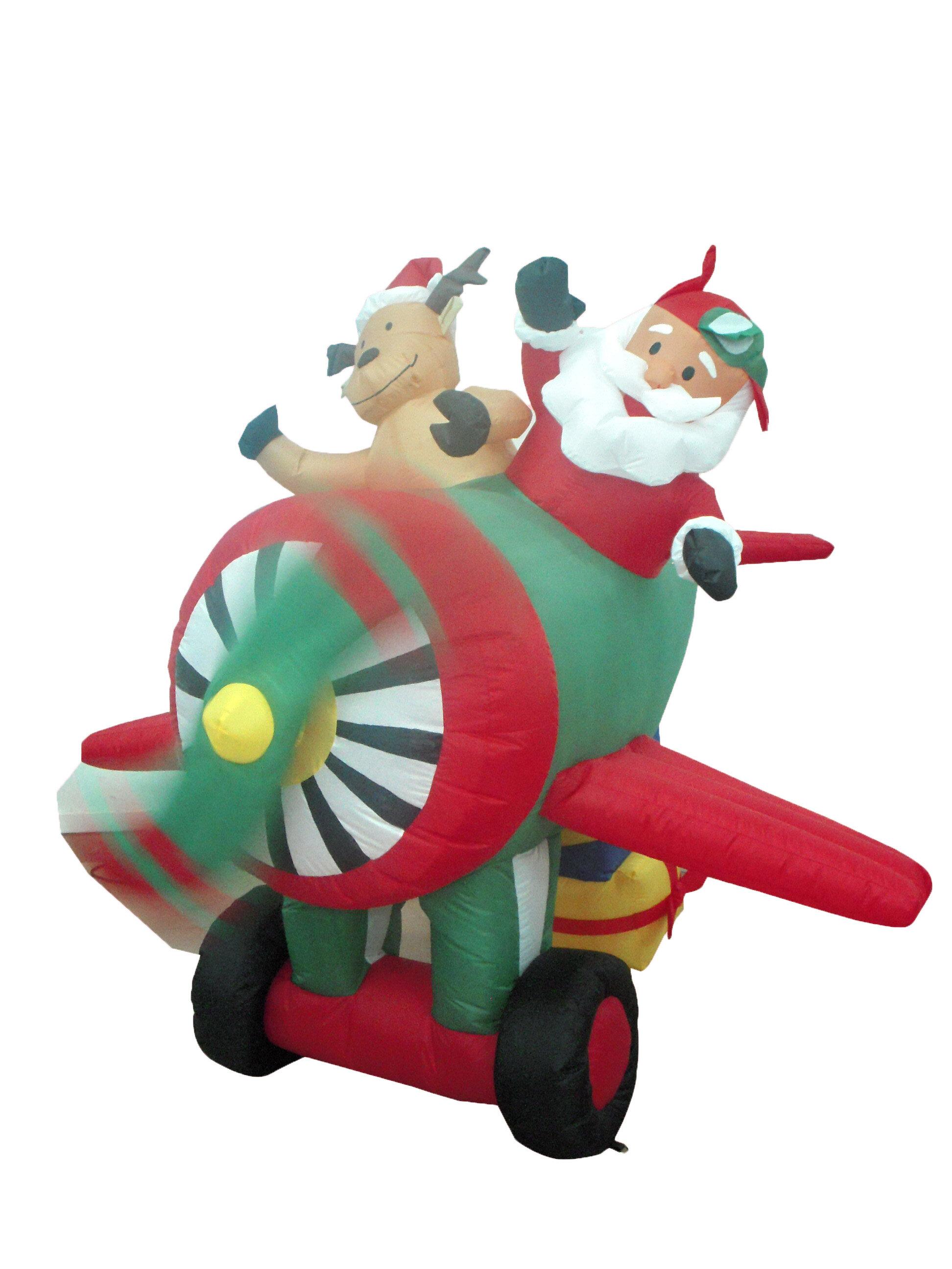 Christmas Inflatable.Christmas Inflatable Santa On Plane Decoration