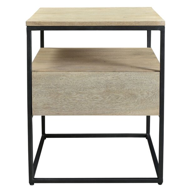 Behan End Table with Storage by Foundry Select