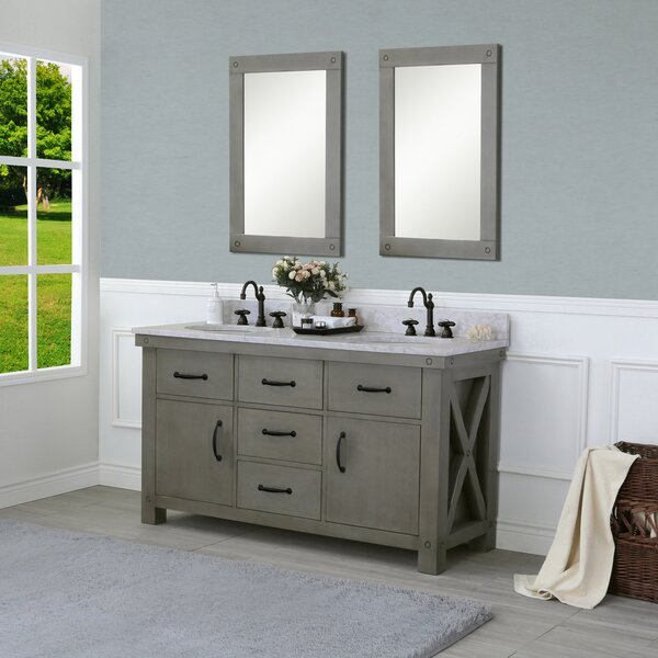 Cleora 60 Double Bathroom Vanity Set with Mirrors by Williston Forge