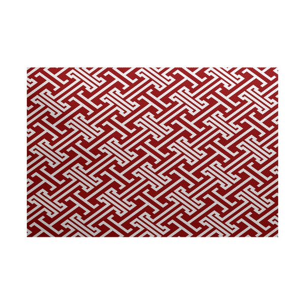 Hancock Red Indoor/Outdoor Area Rug by Breakwater Bay