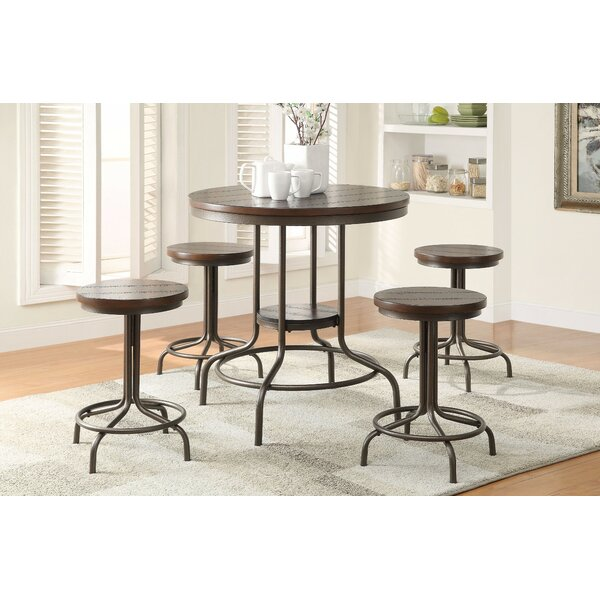 Bronson Metal 5 Piece Counter Height Dining Set by Gracie Oaks