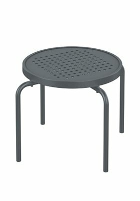 Boulevard Stacking Tea Aluminum Side Table by Tropitone