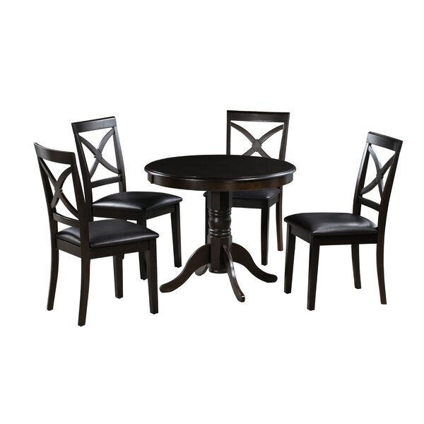 Dion 5 Piece Solid Wood Dining Set by Alcott Hill