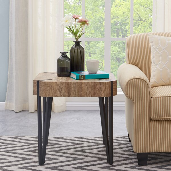 Vincente End Table by Union Rustic