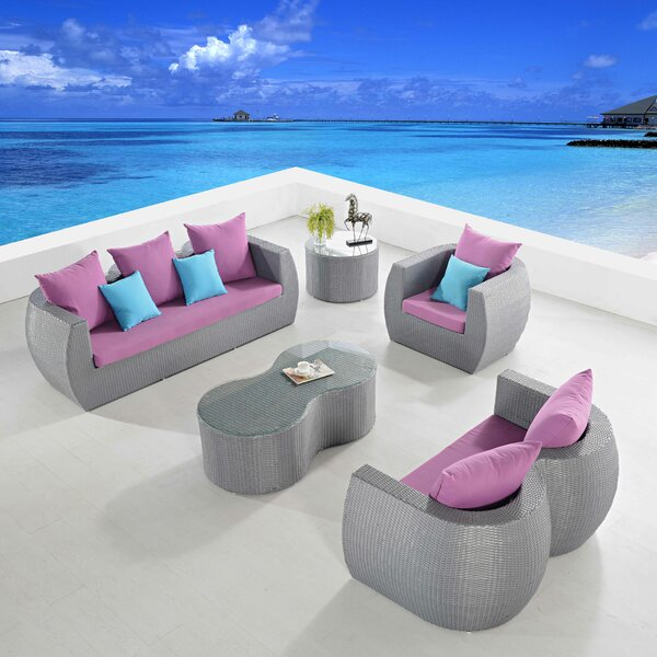 Holcombe 5 Piece Sofa Set with Cushions by Orren Ellis