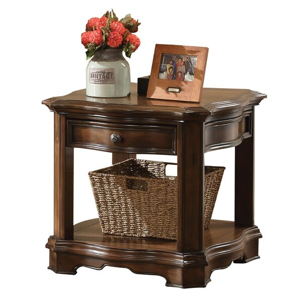 Newcomb Wooden End Table with Storage by Canora Grey