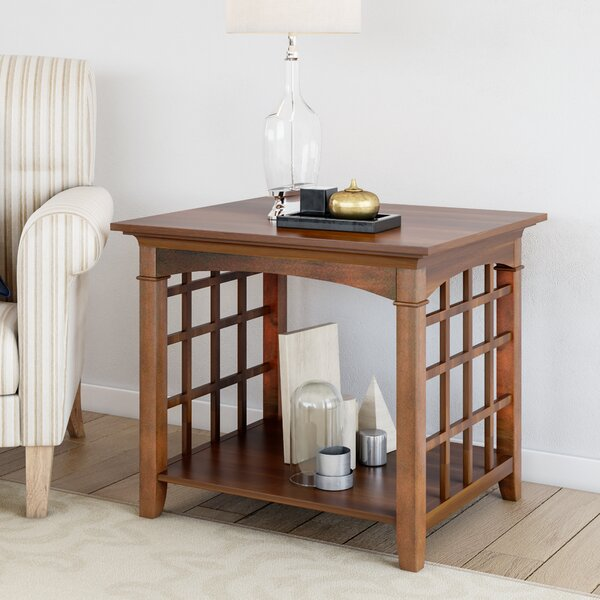 Peaslee End Table by Alcott Hill