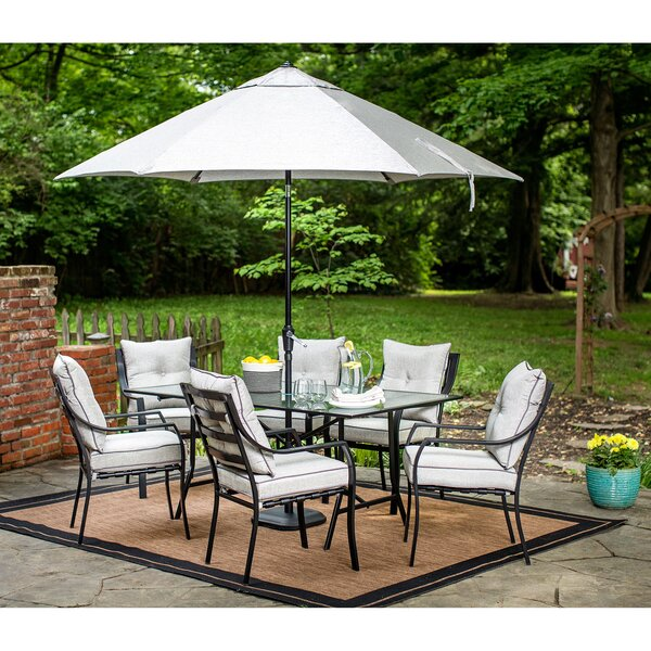 Sweetman 7 Piece Dining Set with Cushions by Brayden Studio