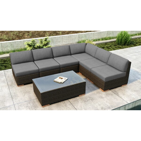Glen Ellyn 7 Piece Sectional Seating Group With Sunbrella Cushions By Everly Quinn Amazing