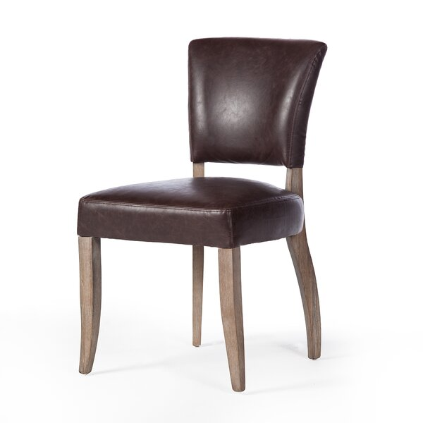 Clintonpark Genuine Leather Upholstered Dining Chair by Ophelia & Co. Ophelia & Co.