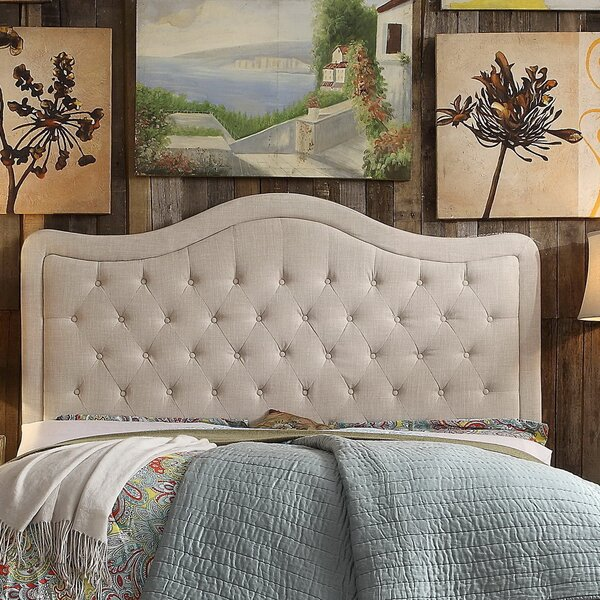 Turin Upholstered Panel Headboard by Darby Home Co