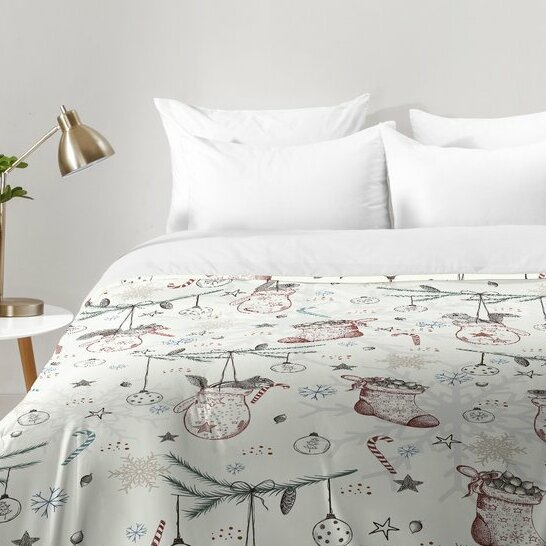 Squirrel Heavenly Christmas Comforter Set by East