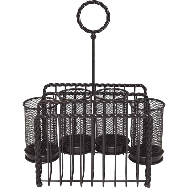 Metal Rope Picnic Caddy by Gourmet Basics by Mikasa