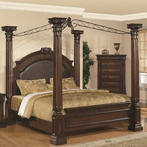 Payne Upholstered Canopy Bed