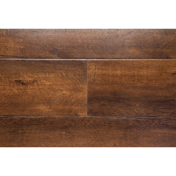 Havana 7.5 x 48 x 12mm Oak Laminate Flooring in Brown by Chic Rugz