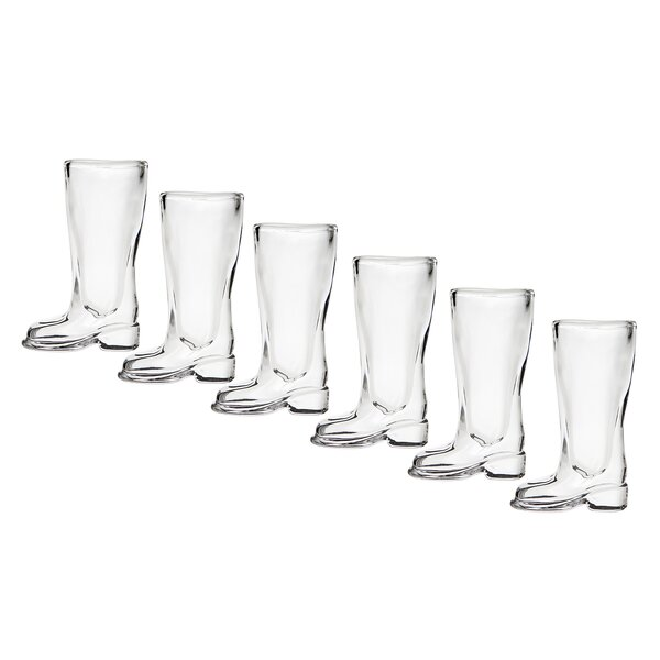 2 oz. Crystal Shot Glass (Set of 6) by Godinger Silver Art Co