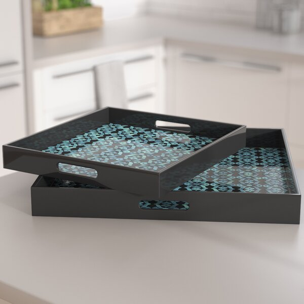Lillis 2 Piece Serving Tray Set by Brayden Studio