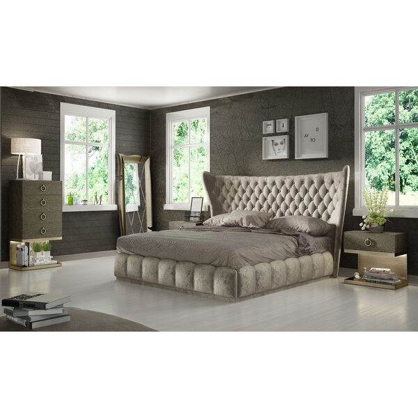 Longville King Platform 4 Piece Bedroom Set by Mercer41