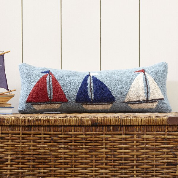 Sail Away Hooked Throw Pillow by Birch Lane Kids™