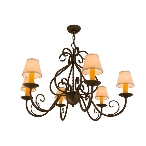 6-Light Shaded Chandelier by Meyda Tiffany