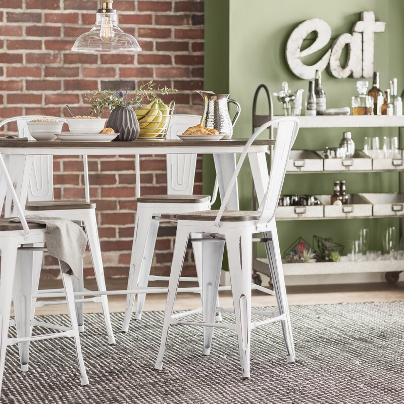 Alberton Industrial 5 Piece Counter Height Dining Set