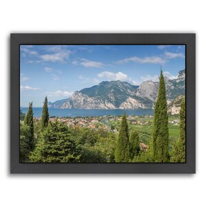 Lake Garda Panoramic View Framed Photographic Print by East Urban Home