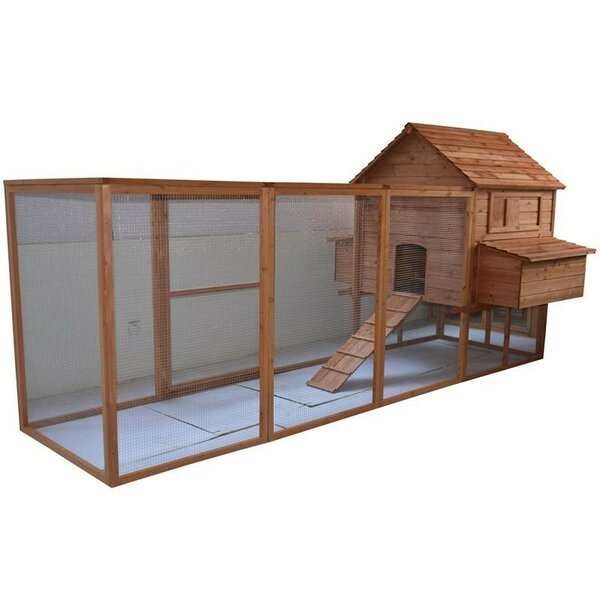 Large Backyard Hen House Chicken Coop with Long Run by Pawhut