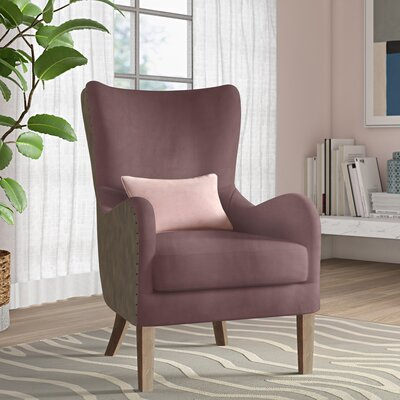 Wingback Chair Plum Gray img