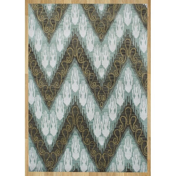 Alliyah Forest Green Ikat Area Rug by James Bond