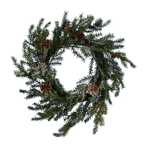 Snow Pine Wreath by The Holiday Aisle