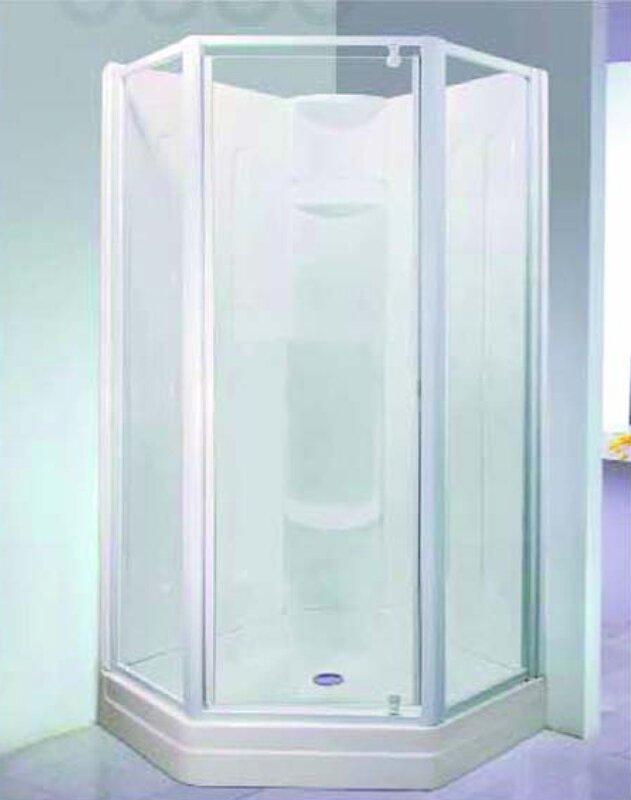 builder contractor neo angle shower door