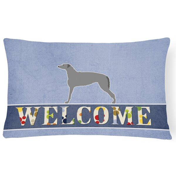 Carnbore Scottish Deerhound Welcome Lumbar Pillow by Red Barrel Studio