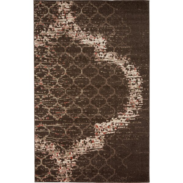 Steinbeck Brown Area Rug by Wrought Studio