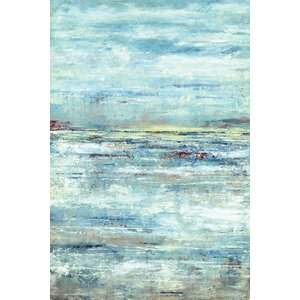 'Lakeside Clouds' Painting Print on Wrapped Canvas by Wade Logan