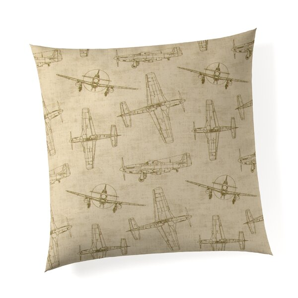 Phaeton Airplanes Linen Throw Pillow by Harriet Bee