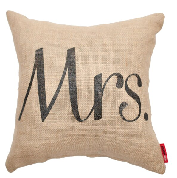 Expressive Mrs. Burlap Jute Throw Pillow by Posh365