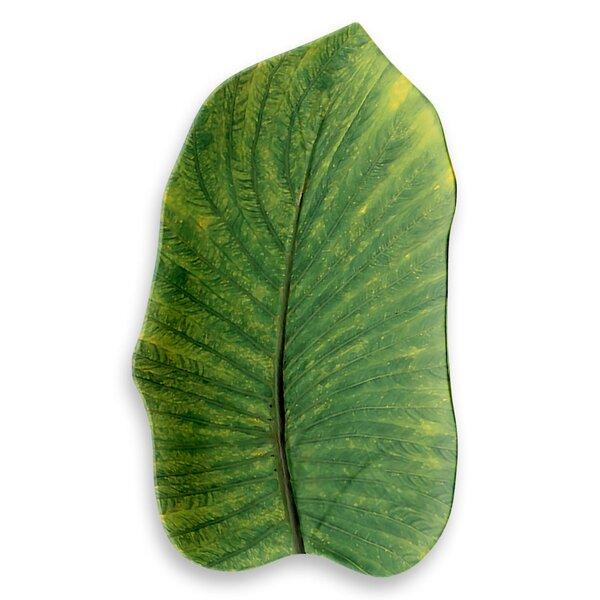 Myrie Leaf Melamine Platter by Beachcrest Home