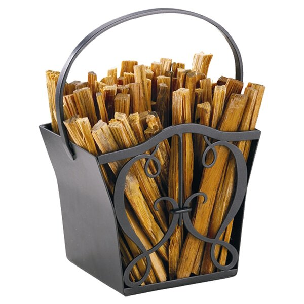 Cypher Wrought Iron Fatwood Caddy by Minuteman International