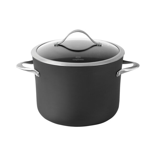 Contemporary Nonstick 8 Qt. Stock Pot with Lid by Calphalon