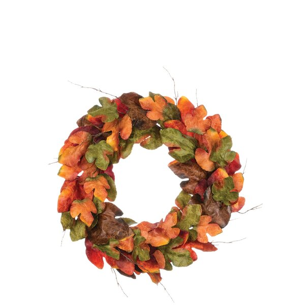 33 Large Leaf Wreath by Millwood Pines