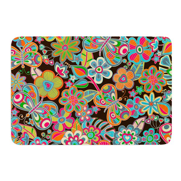 My Butterflies and Flowers by Julia Grifol Bath Mat by East Urban Home