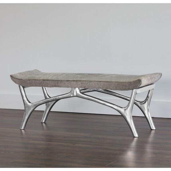 Perez Leather Bench by Sunpan Modern
