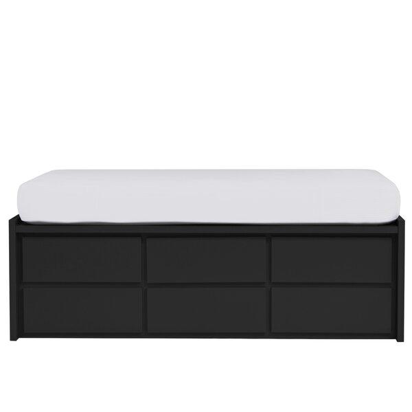 Kadon Twin Platform Bed with Storage in Painted Eco-MDF Wood Veneer by Orren Ellis