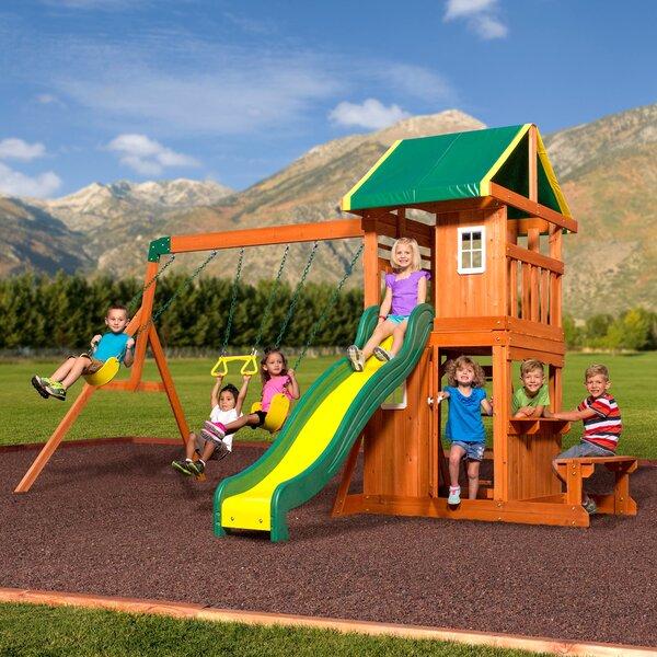 Saratoga Cedar Swing Set Wayfair