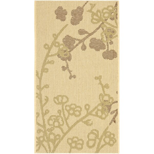 Laurel Natural/Olive Indoor/Outdoor Area Rug by August Grove