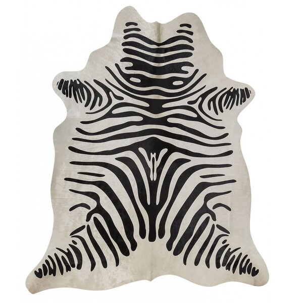 Zebra Hand-Woven Black/White Area Rug by Rodeo