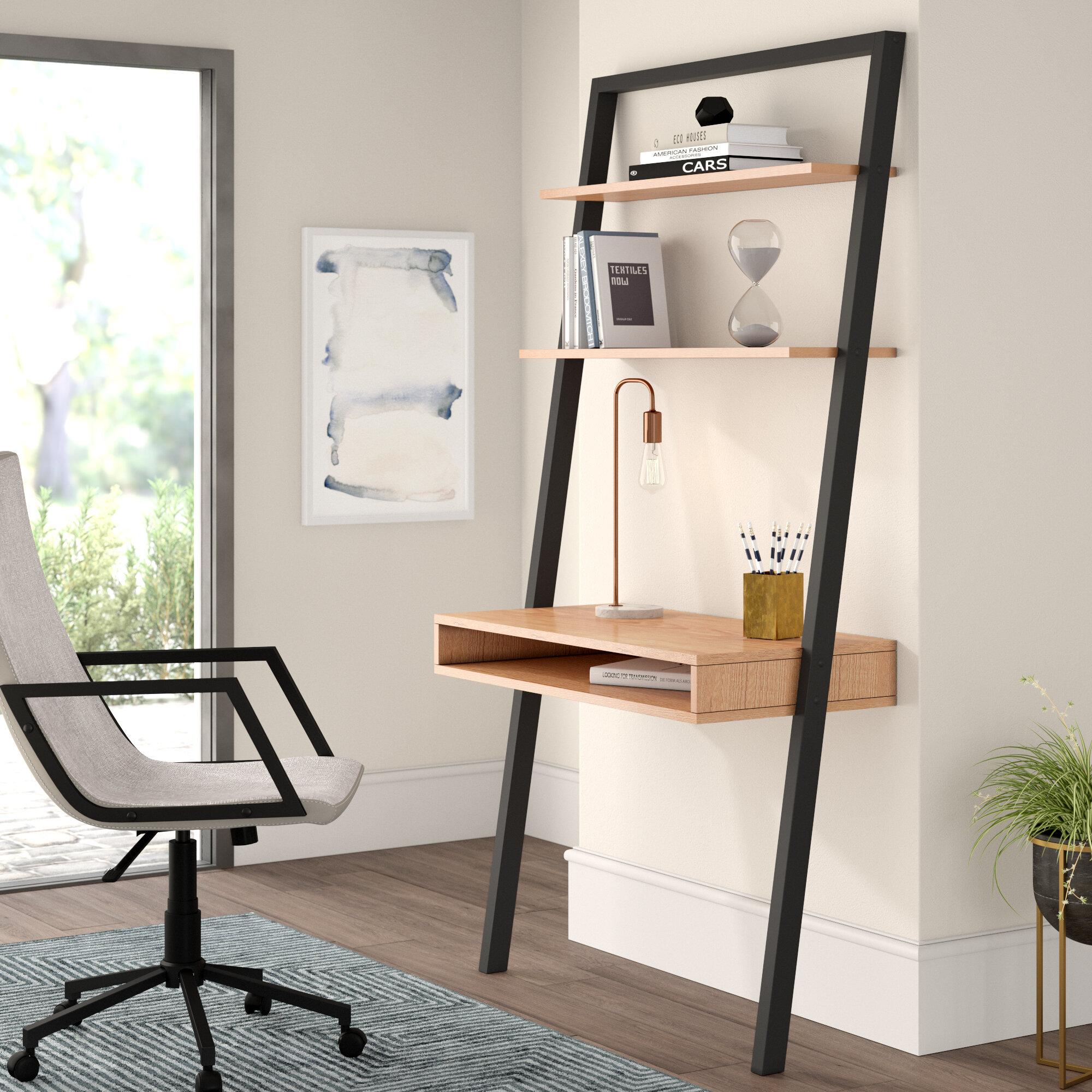 Mercury Row Theophanes Leaning Ladder Desk Reviews Wayfair